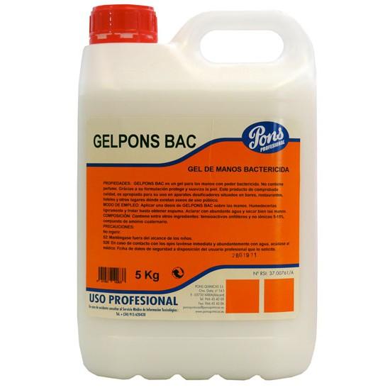 Soap disinfectant gel Asevi Gelpons Bac 5l
