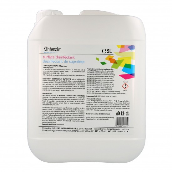 Ready-to-use surface disinfectant 5L KLINTENSIV