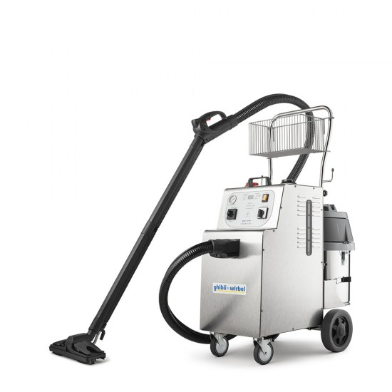 Steam vacuum cleaner with professional suction system