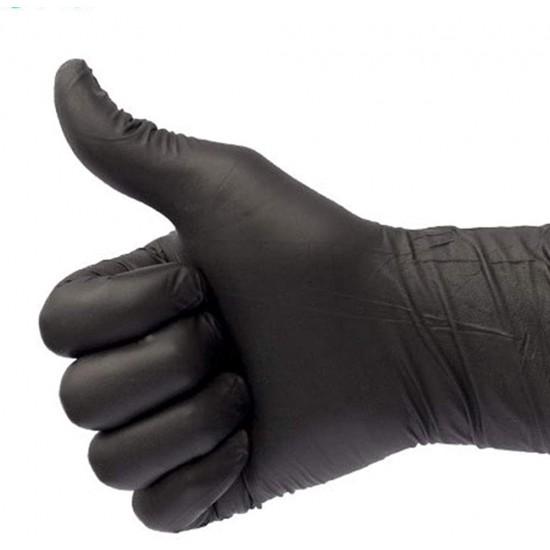 Black nitrile gloves 100PCS